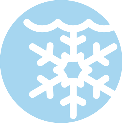 cold water immersion icon, looks like a snowflake