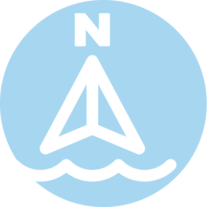 navigation rules icon in the shape of a north symbol