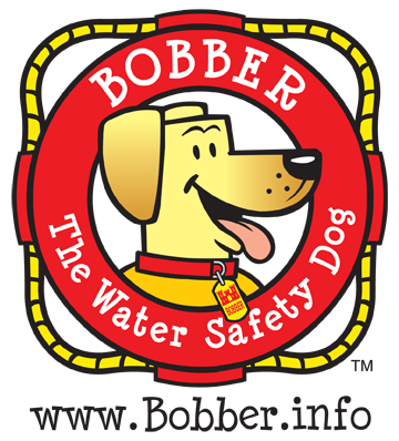Bobber the water safety dog